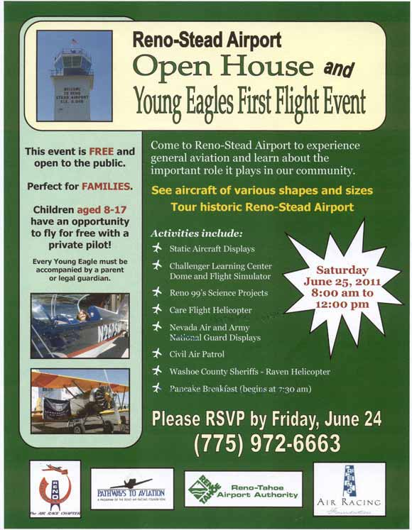 Reno-Stead Airport Open House and Young Eagles Event