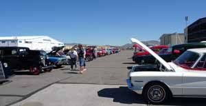Custom cars on display at the Open House.