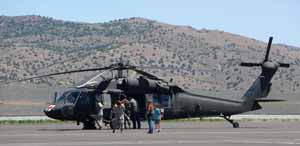 Army Air National Guard medivac helicopter.
