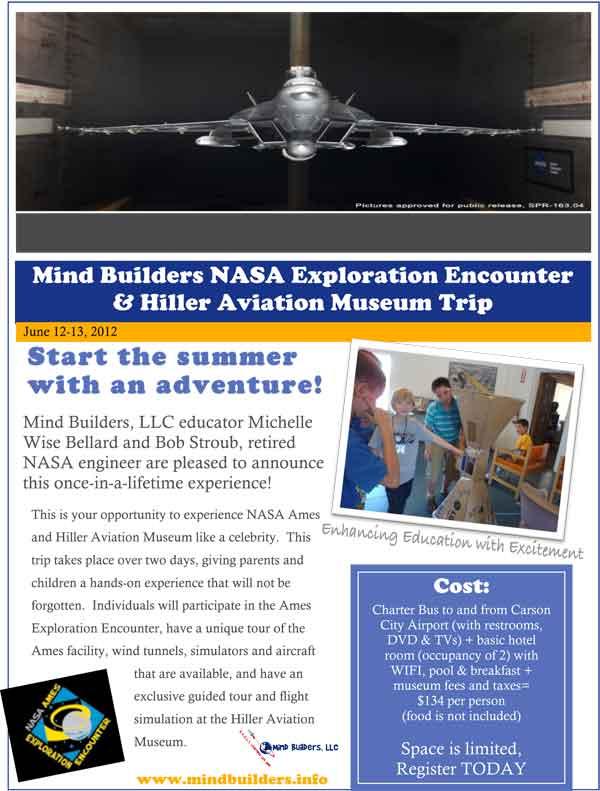 NASA Ames Exploration Trip Flyer, page 1