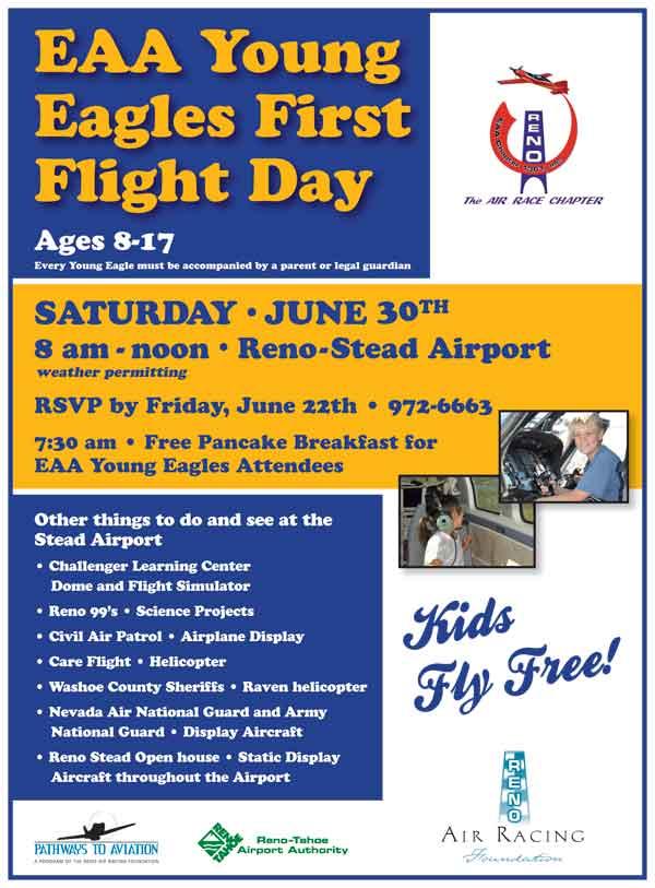 Young Eagles Flights at Reno-Stead Airport June 30, 2012