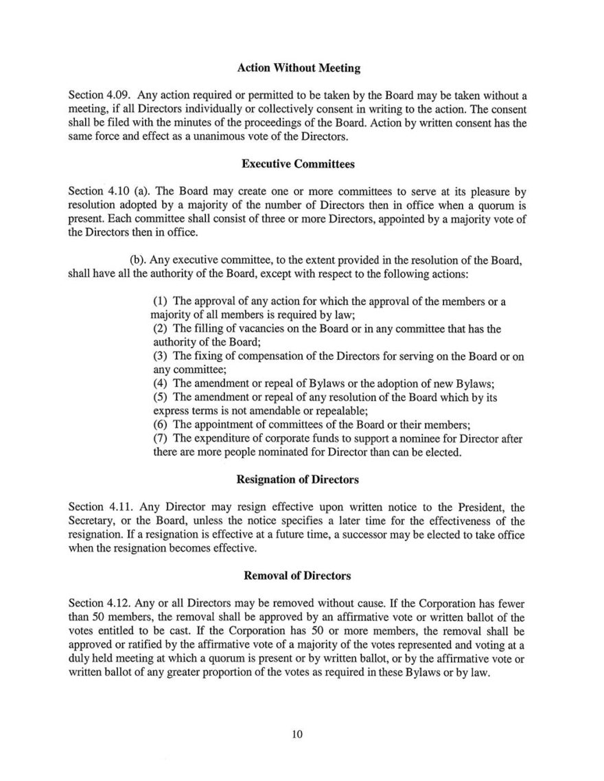 ByLaws of the Reno-Stead Airport Association - Reno-Stead