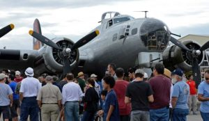Waiting to get a closer look at EAA's B-17G.