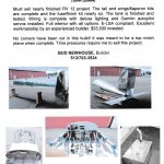 RV-12 Project For Sale