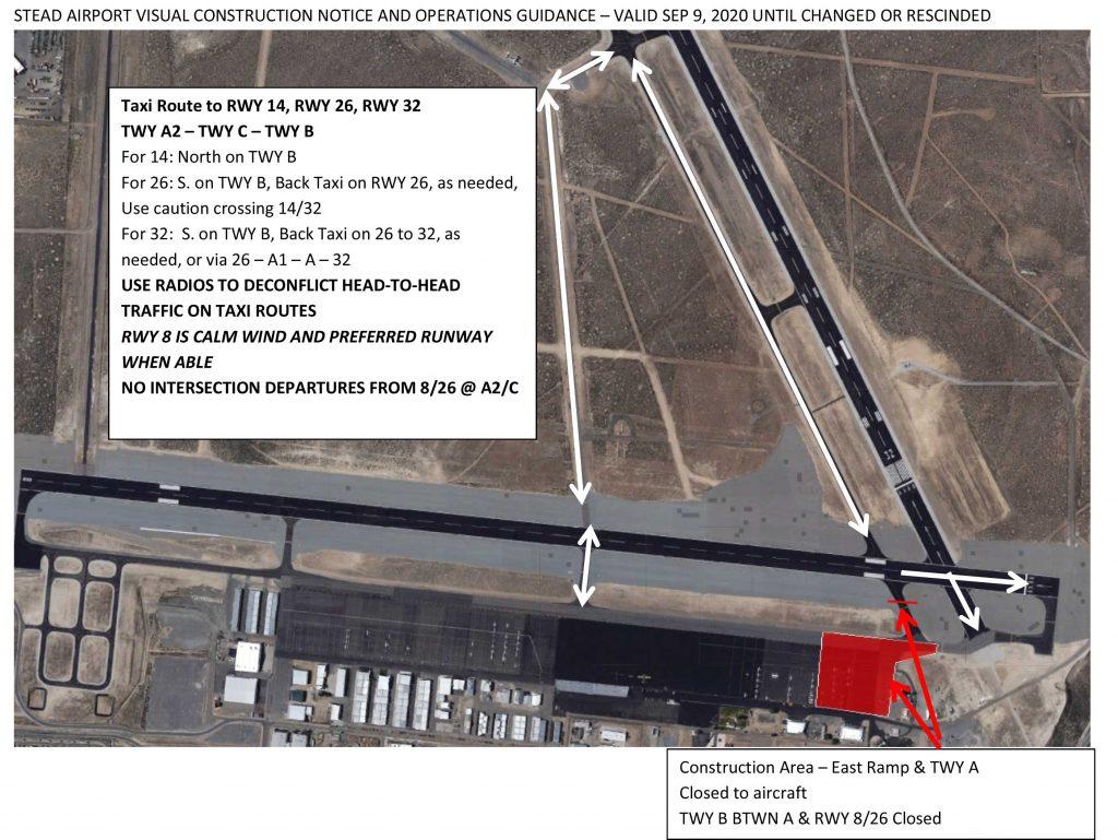 Ramp Rebuild Phase 1 Taxi Routes