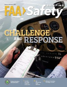 Cover of the Jan/Feb issue of FAA Safety Briefing Magazine.