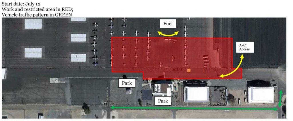 Reno-Stead Airport ramp construction plan July 12, 2021